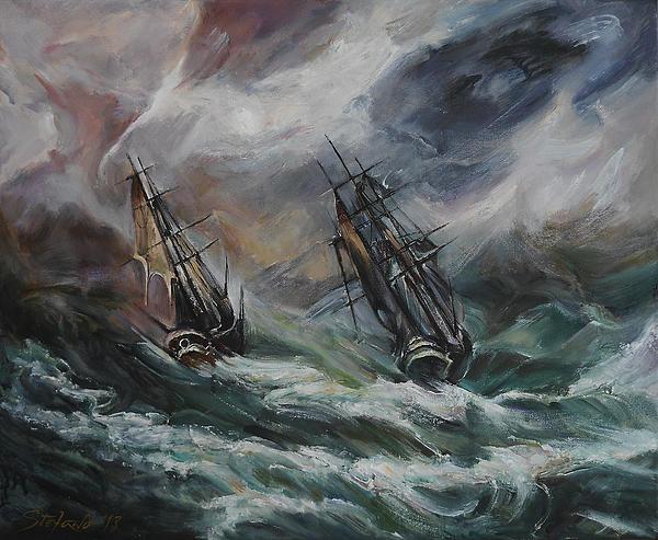 Art Digital Art - Open Sea - Dangerous Drift II by Stefano Popovski