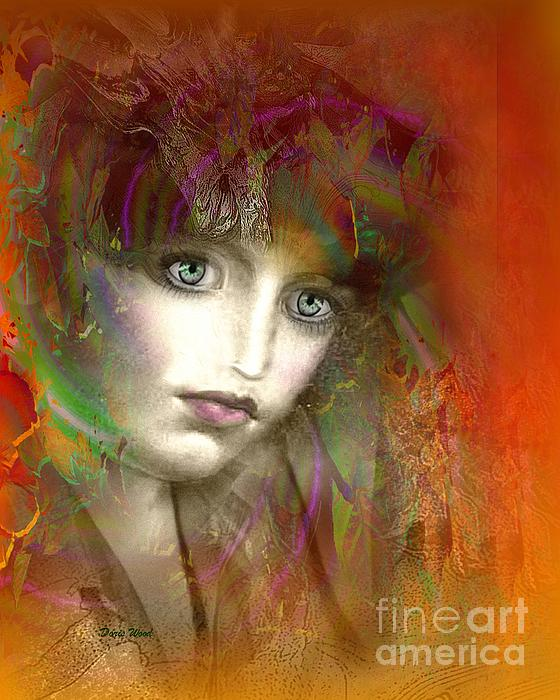 Woman Digital Art - Orange Glow by Doris Wood