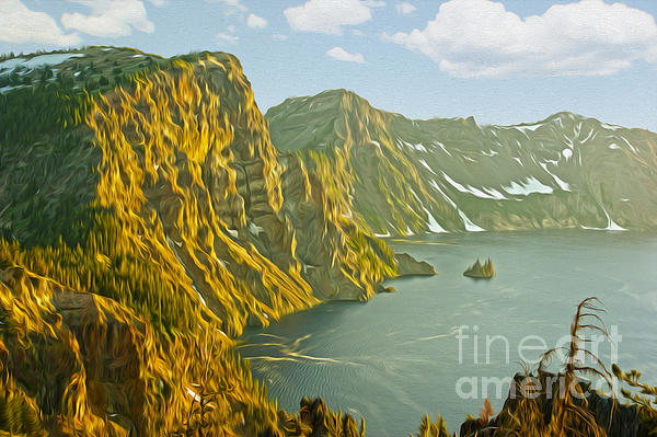 Lake Photograph - Oregon Lake Time by Nur Roy
