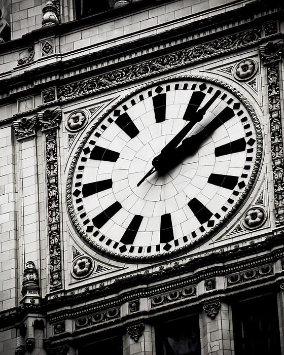 Clock Photograph - Ornate Time by April Lee
