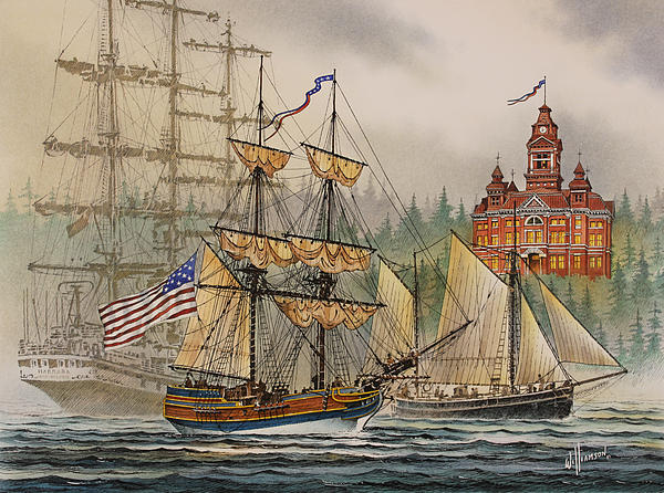 Maritime History Painting - Our Seafaring Heritage by James Williamson