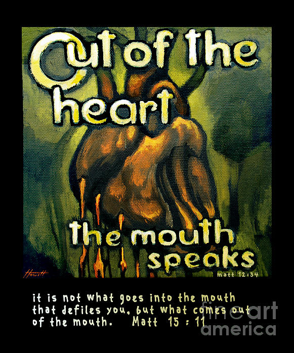 Quotes Painting - Out Of The Heart by Patricia Howitt
