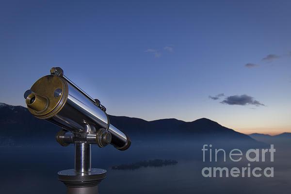 Telescope Photograph - Overlook To The Island by Maurizio Bacciarini