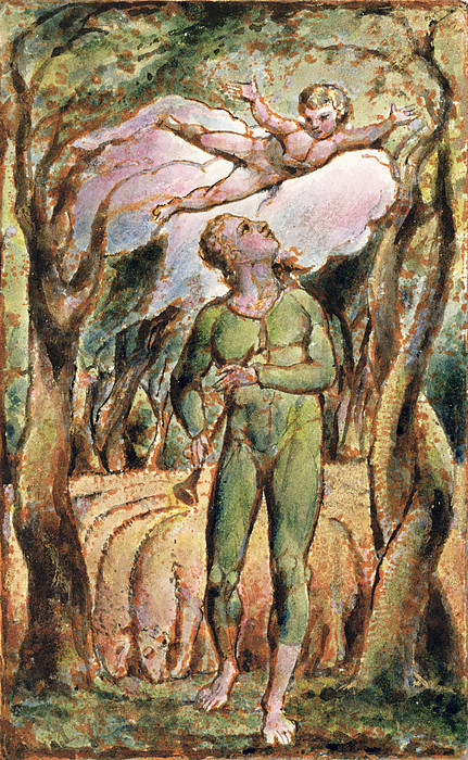 Shepherd Painting - P.125-1950.pt2 Frontispiece Plate 2 by William Blake