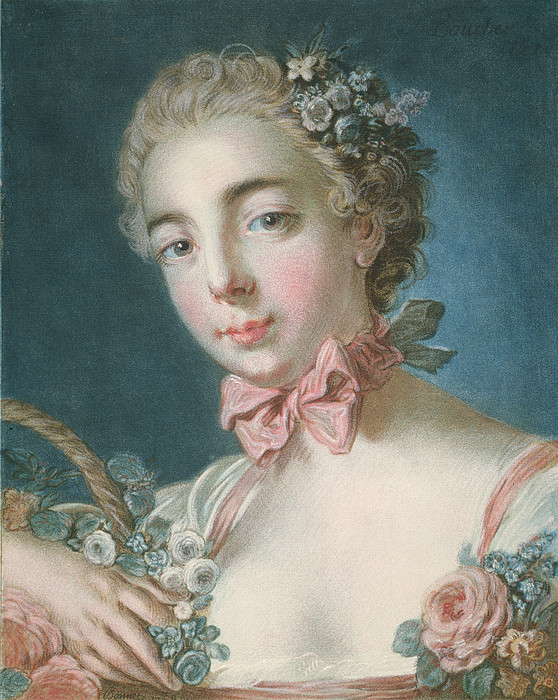 Flora Painting - Head Of Flora by Francois Boucher