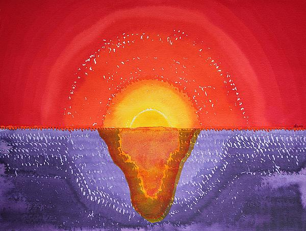 Sunset Painting - Pacifica Original Painting by Sol Luckman