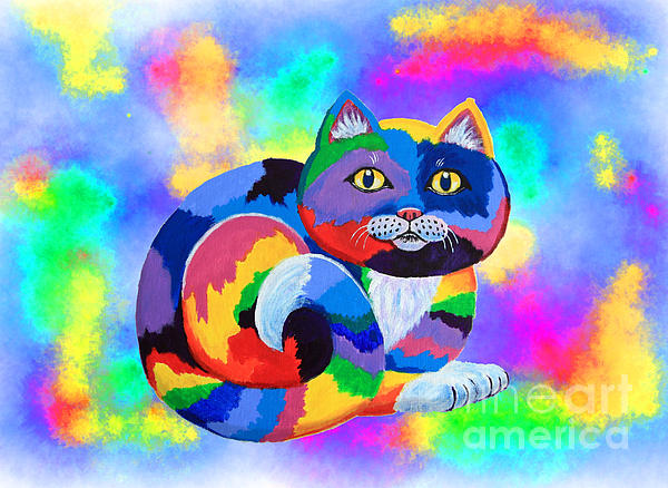 Cat Painting - Painted Cat by Nick Gustafson