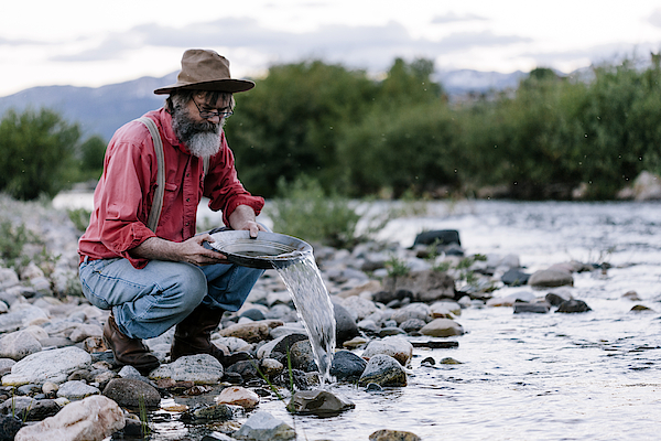 Panning For Gold, Yellowstone Photograph by Urbancow