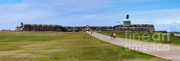 Landscape Photograph - Panorama Of El  Morro Castillo by Thomas Marchessault