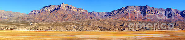 Roena King Photograph - Panorama Sierra Caballo Mountains And Dry Lake Bed by Roena King