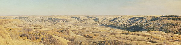 Horizon Photograph - Panoramic Of The Badlands Of The Red by Roberta Murray