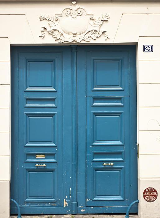 Antique Photograph - Paris Door by Georgia Fowler