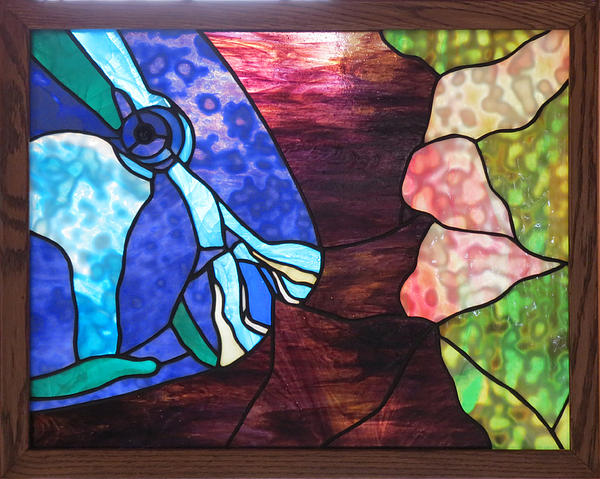 Fish Glass Art - Parrot Fish And Coral by Julie Turner