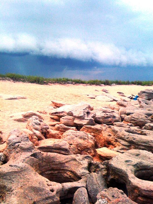 Beach Photograph - Passing Storm by Julie Wilcox