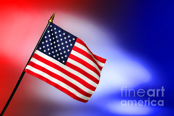 Flag Photograph - Patriotic American Flag by Olivier Le Queinec