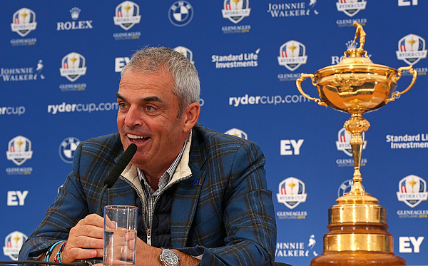 Paul Mcginley Press Conference - 2014 Ryder Cup Photograph by Mike Ehrmann