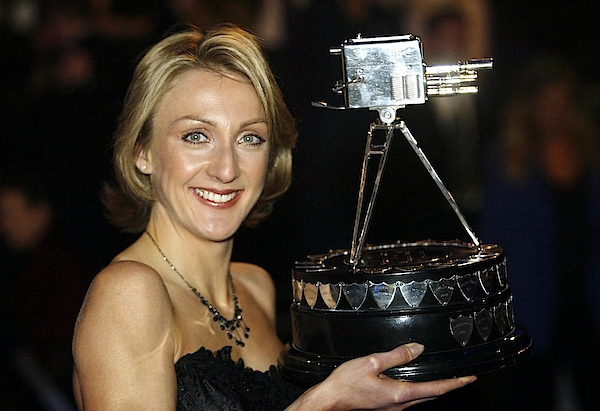 Paula Radcliffe Poses With The Bbc Sports Personality Of The Year Award Photograph by Warren Little