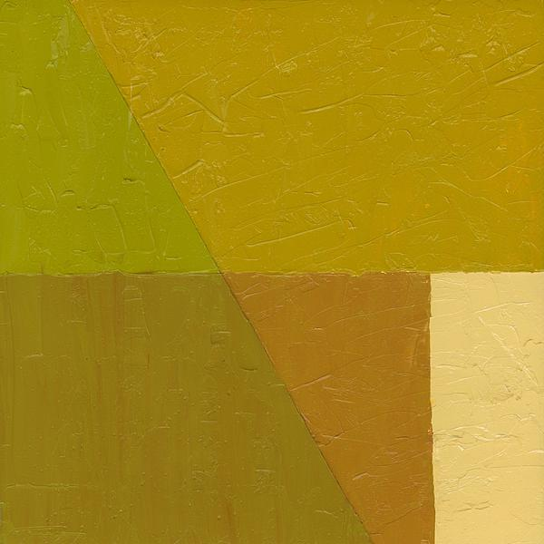 Abstract Painting - Pea Soup And Cream by Michelle Calkins