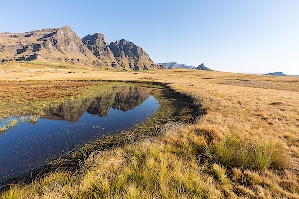 Peaks Reflecting In Pool Photograph by Hannes Thirion