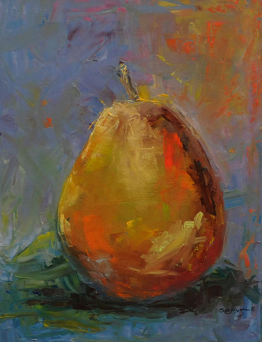 Still Life Painting - Pear For Becky by Susie Jernigan