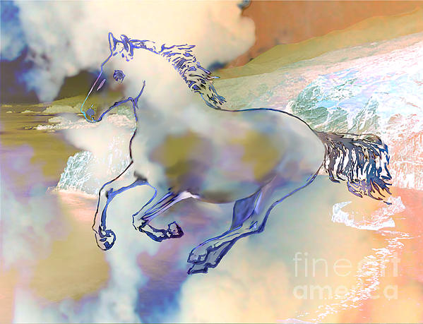 Horse Painting - Pegasus by Ursula Freer