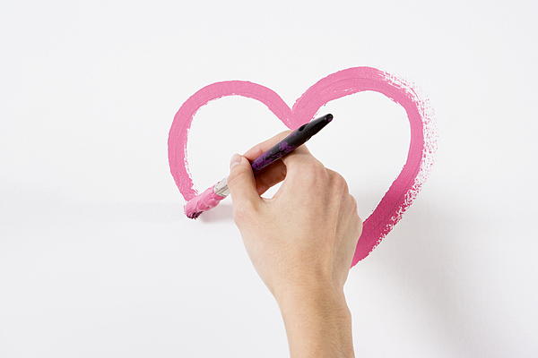 Person Painting A Heart Photograph by Image Source