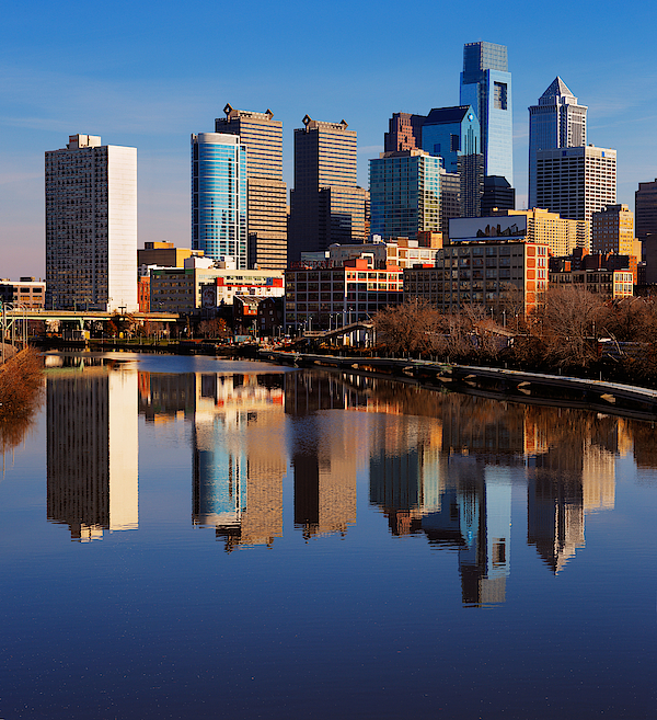 Philadelphia Reflected In The Still Watera Photograph by Sophie James