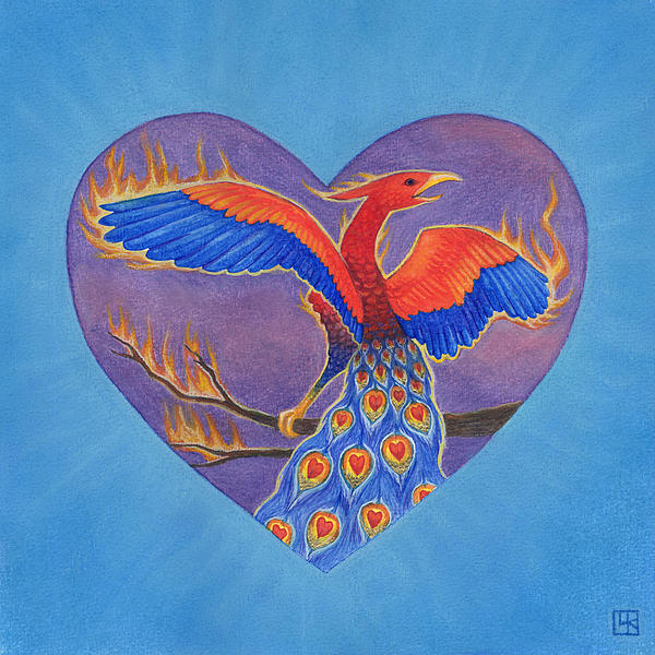 Heart Painting - Phoenix by Lisa Kretchman