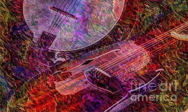 Banjo Photograph - Pickin And A Grinnin Digital Banjo And Guitar Art By Steven Langston by Steven Lebron Langston