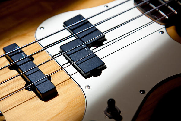 Bass Guitar Photograph - Pickup Lines by Peter Tellone