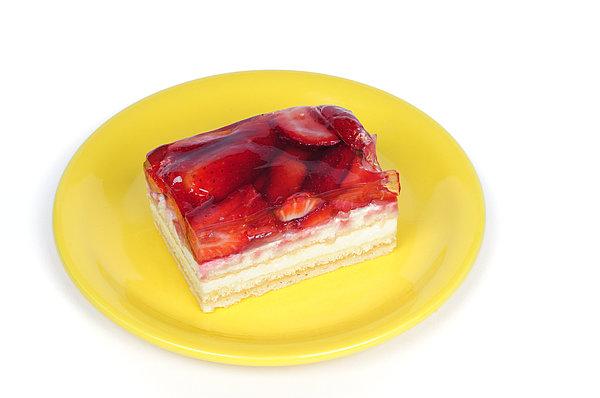 Cake Photograph - Piece Of Strawberry Cake by Matthias Hauser