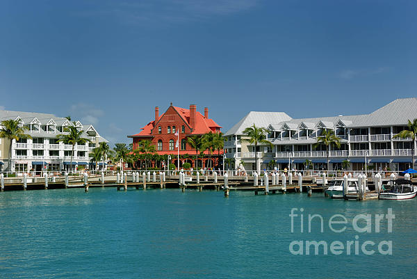Custom House Photograph - Pier Key West Florida by Amy Cicconi