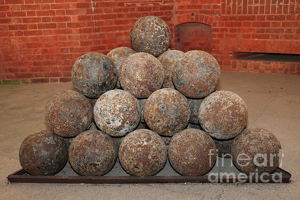 San Francisco Photograph - Pile Of Cannon At San Francisco Fort Point 5d21493 by Wingsdomain Art and Photography