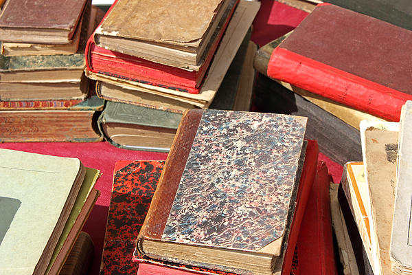 Pile Photograph - Piles Of Old Books by Kiril Stanchev