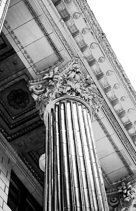 Columns Photograph - Pillar Of Finance  by Cathie Tyler