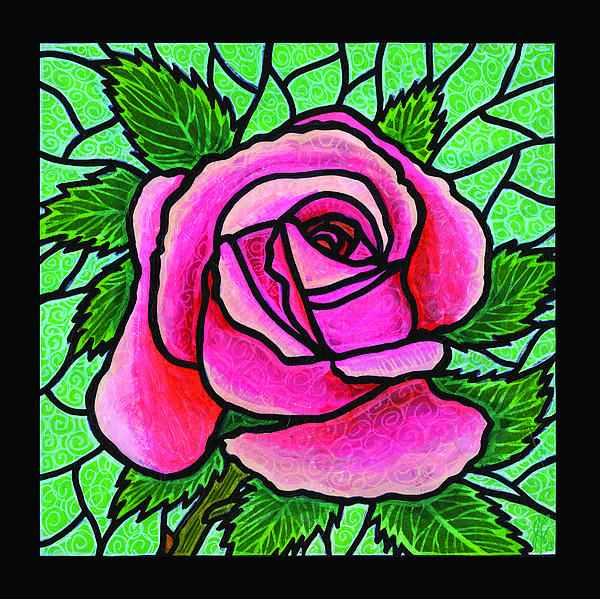 Rose Painting - Pink Rose Number 5 by Jim Harris