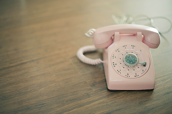 Pink Rotary Telephone Photograph by Photo By Nicole Peattie, Photographer