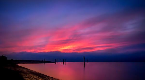 Sunset Photograph - Pink Sunset by Eva Kondzialkiewicz