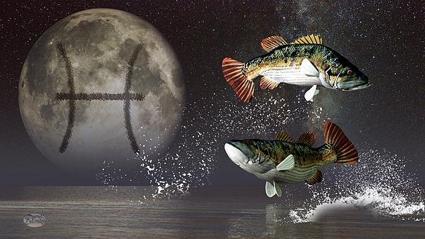 Pisces Digital Art - Pisces Zodiac Symbol by Daniel Eskridge