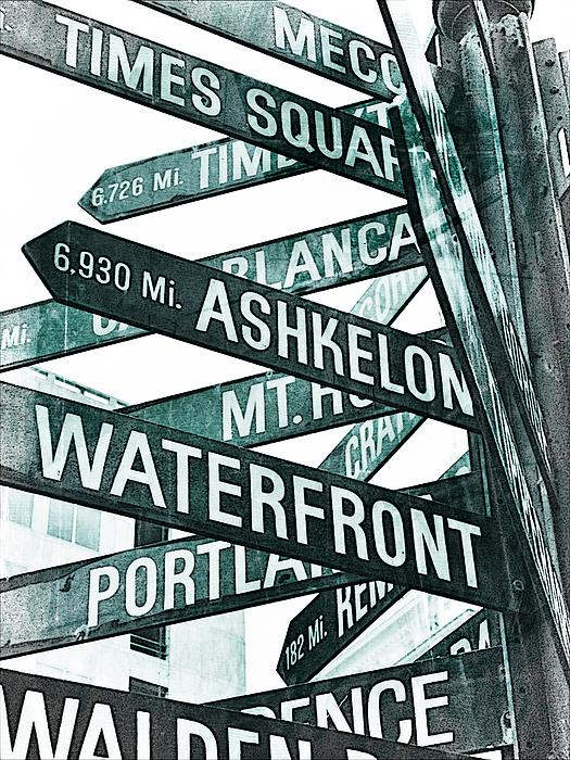Signs Photograph - Places To See by Cathie Tyler