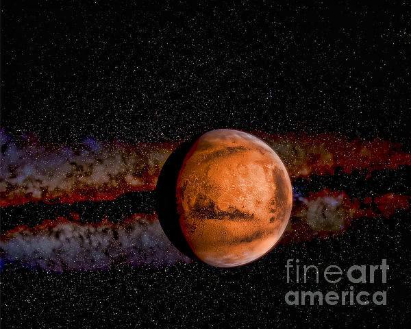 Paul Ward Photograph - Planet - Mars - The Red Planet by Paul Ward