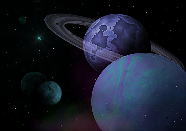 Dwarf Planets Digital Art - Planets Vs. Dwarf Planets by Ricky Haug