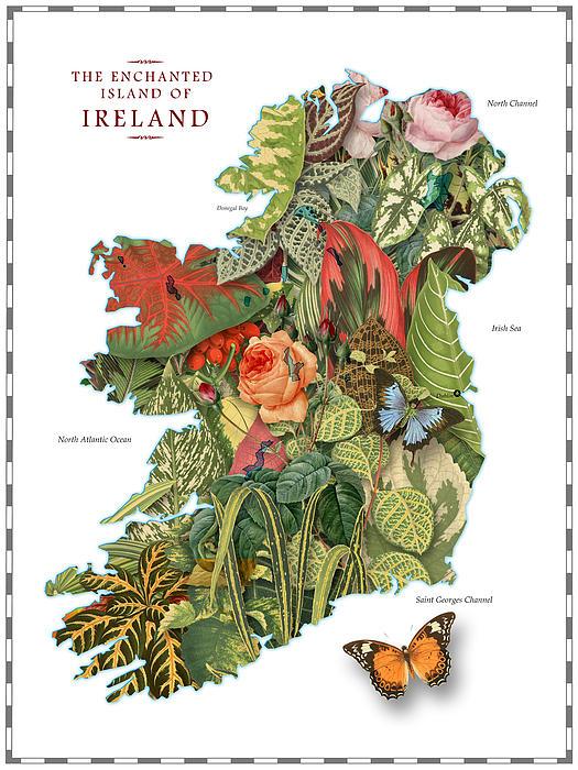 World Digital Art - Plant Map Of Ireland by Gary Grayson