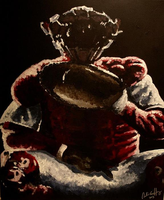 Baseball Painting - Play Ball by Candice Griffy