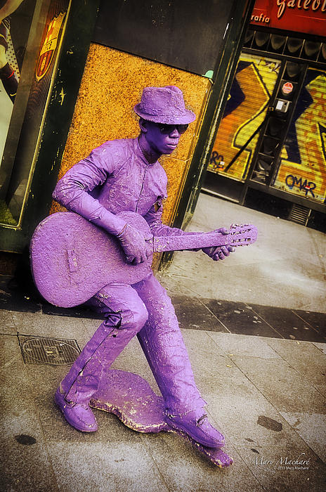 Guitar Photograph - Play The Music - Madrid by Mary Machare