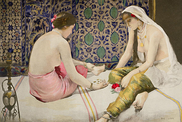 Game Painting - Playing Knucklebones by Paul Alexander Alfred Leroy