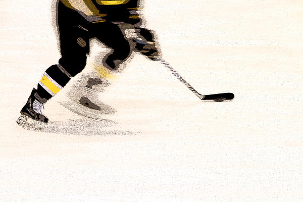 Hockey Photograph - Playing The Game by Karol Livote