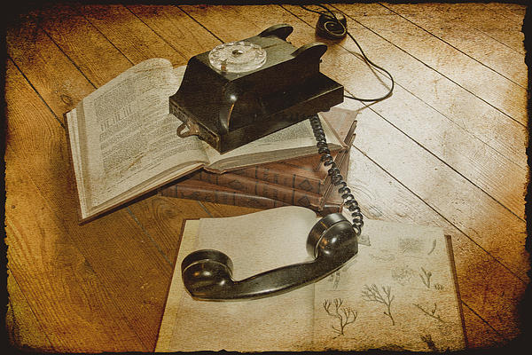 Vintage Telephone Photograph - Please Hold by Georgia Fowler