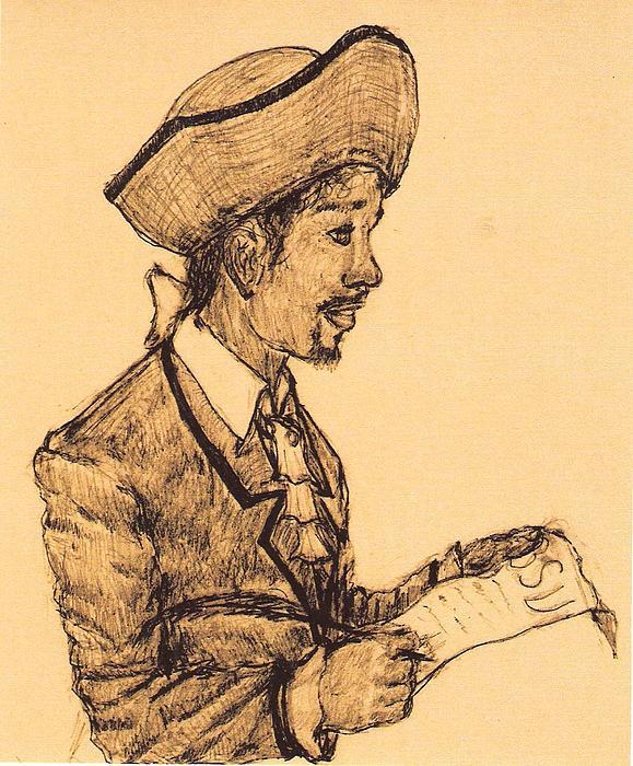 Portrait Drawing - Poet by George Harrison