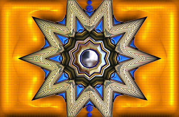 Points Digital Art - Point Of View - Gold by Wendy J St Christopher